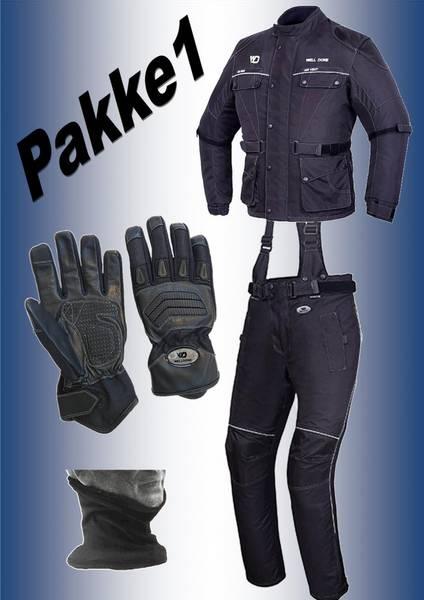 PAKKE 1:  jakke,bukse,hansker,halsvarmere